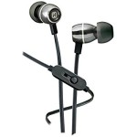 iHome Noise-Isolating Metal Earbuds with Microphone (Gunmetal)