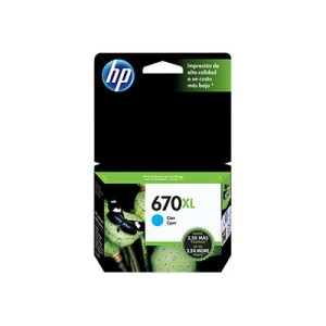 HP 670XL - High Yield - Dye-Based Cyan - Original - Ink Advantage - Ink Cartridge