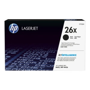 HP 26X - High Yield - Black - Original - LaserJet - Toner Cartridge
